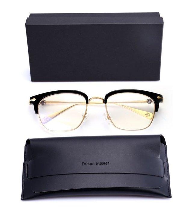 【NoComment】英倫時尚 質感簡約 復古半框雕花眼鏡 四色 ZARA H&M