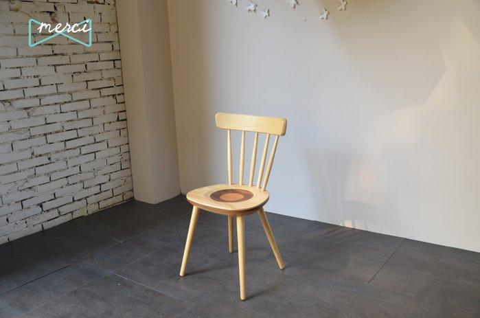 美希工坊嚴選Ripple stool漣漪餐椅/書桌椅/溫莎椅 /全實木/義大利名椅/栓木款