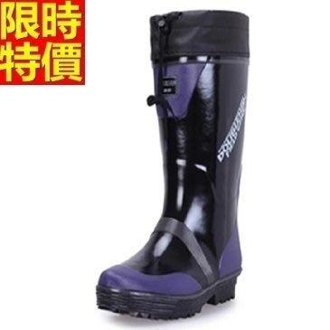 長筒雨靴 雨具-防滑厚底戶外釣魚休閒男雨鞋2色67a16[獨家進口][米蘭精品]