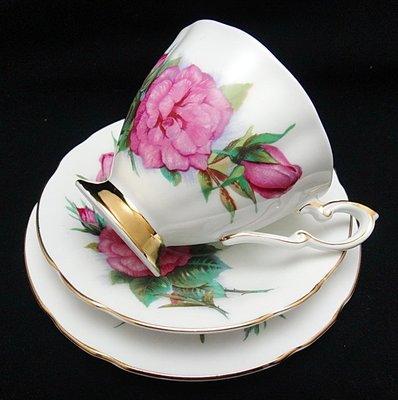 【timekeeper】 英國製Paragon派拉岡世界六大玫瑰系列三件式咖啡杯+盤-1(免運)
