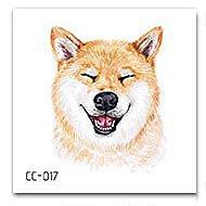 【萌古屋】柴犬單圖CC-017 - 防水紋身貼紙刺青貼紙K37