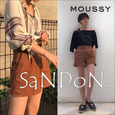 SaNDoN x『moussy』五月夏季單品 簡約俐落感口袋高腰顯瘦短褲 SNIDEL 韓妮 180521