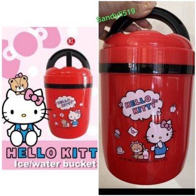 正版授權🔥Hello Kitty攜帶式小冰桶~ KITTY冰桶 凱蒂貓攜帶式小冰桶~手提冰桶 保冰桶