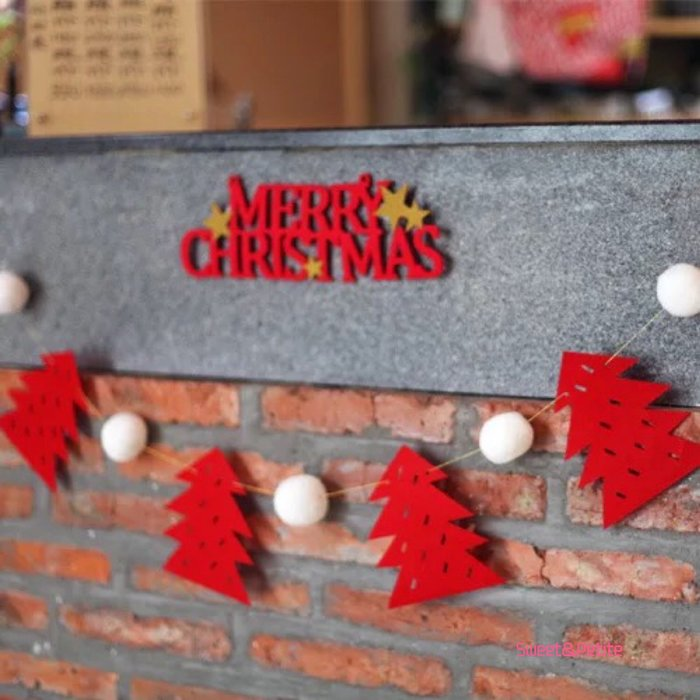 FW53❤白色雪球聖誕樹裝飾掛飾❤ 聖誕派對裝飾品 聖誕節活動派對裝飾 聖誕布置 耶誕節 耶誕樹 聖誕樹