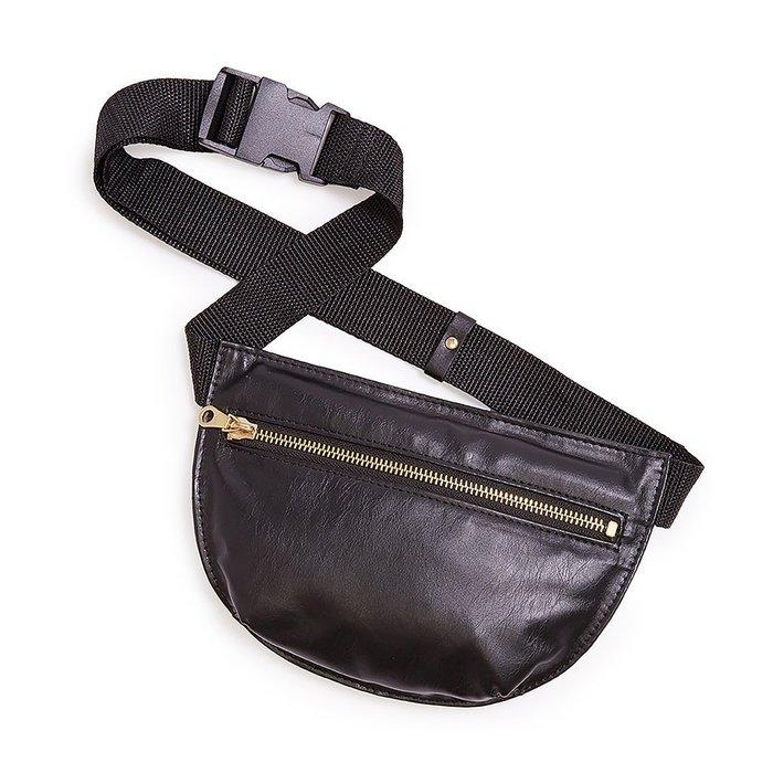 Maple麋鹿小舖 美國AE購買 BAN.DO  SWAG BAG - MATTE  黑色仿皮腰包 * ( 現貨 )