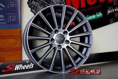 【超前輪業】全新鋁圈 類AMG 編號(54) 17吋鋁圈 5孔112 7.5J ET35 ET42 平光鐵灰車面