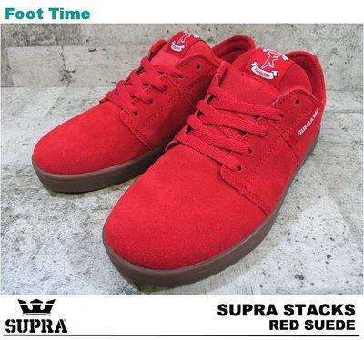 全新 SUPRA TK STACKS RED SUEDE TERRY KENNEDY  紅麂皮 膠底 滑板鞋 US9