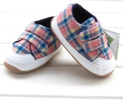 『※妳好,可愛※』學步鞋~~甜美格紋風學步鞋 嬰兒鞋 寶寶鞋 童鞋
