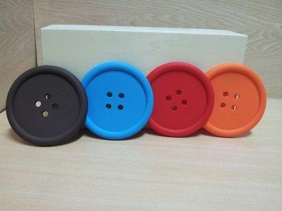 ❤心生活創意禮品館❤創意可愛 彩色鈕扣 杯墊 糖果色 矽膠雙面 防滑墊 隔熱墊