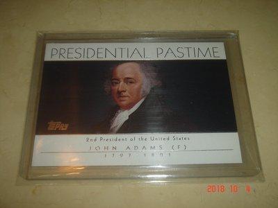 美國總統 John Adams 約翰·亞當斯 04 Topps President Pastime #PP2 球員卡
