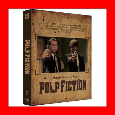 【BD藍光】黑色追緝令:雙碟外紙盒限量鐵盒版B款(台灣繁中字幕)Pulp Fiction追殺比爾霸道橫行導演變臉主角