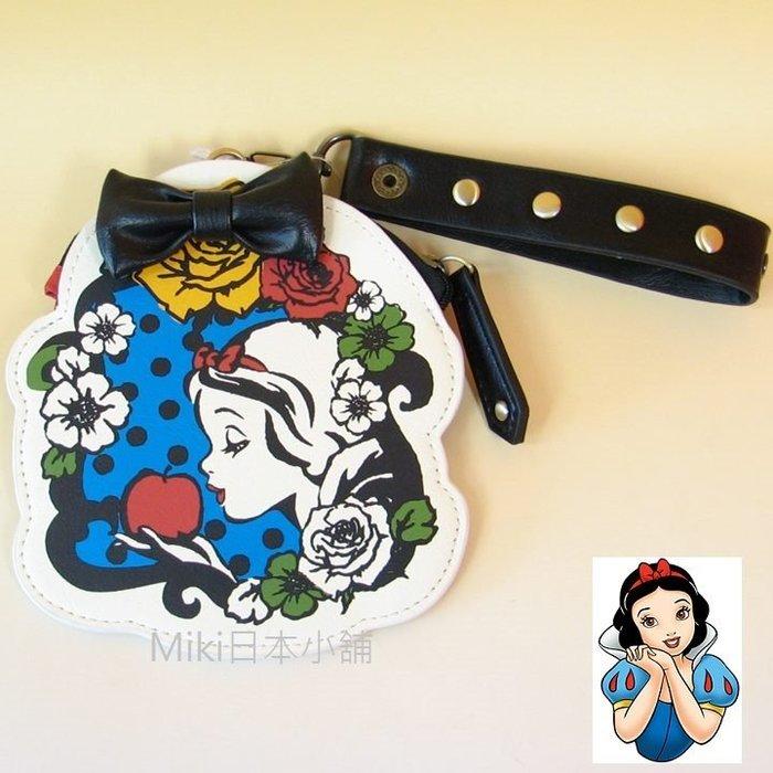 *Miki日本小舖*日本東京迪士尼樂園限定白雪公主零錢/票夾 黑蝴蝶結 鉚釘提袋