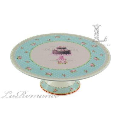 【芮洛蔓 La Romance】義大利 Lamart - 夢幻甜點系列11吋高腳蛋糕盤 / 餐盤 / 點心盤