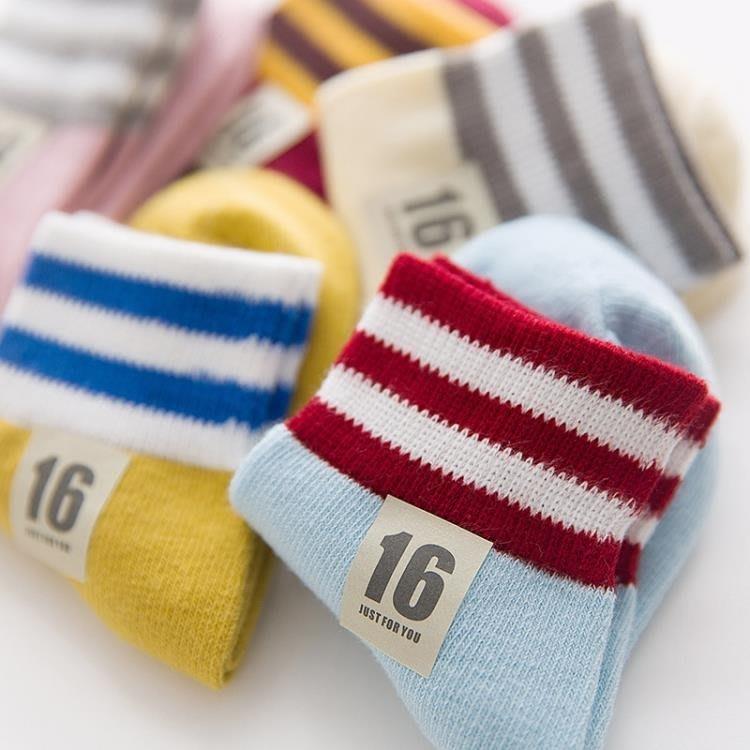 兒童襪子棉秋冬季男童女寶寶小孩中筒襪加厚免郵 【秀秀生活】