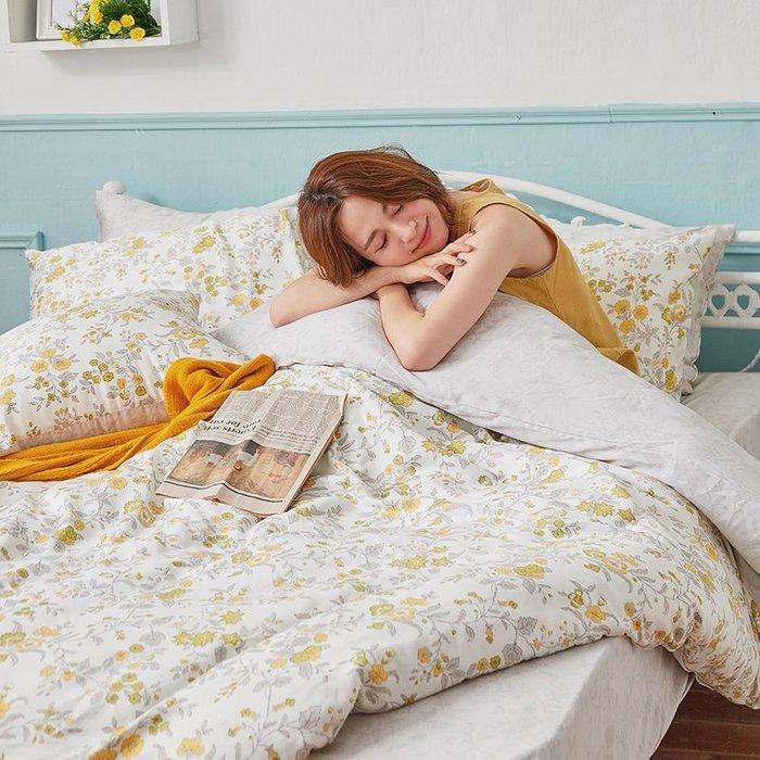 床包 / 雙人加大【南法蝶花】含兩件枕套  60支天絲  戀家小舖台灣製AAU301