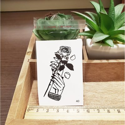 【萌古屋】百態人生40單圖 - 男女防水紋身貼紙刺青貼紙 K43