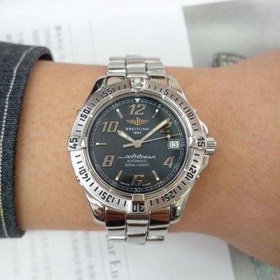 台中潤泰流當精品 原裝 BREITLING 百年靈 自動 女錶 9成5新 喜歡價可議 ZR453