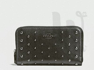 [Double W] COACH 圓釘皮革銀包 中款 (57538) Wallet with Ombre Rivets