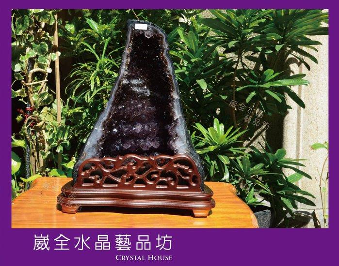 【崴全水晶】頂級 天然 巴西 鈦晶 紫晶洞  11.4kg  ※ 風水石 鎮宅 招財