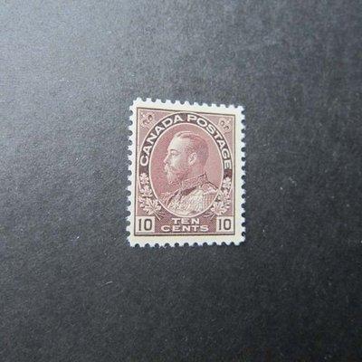 【雲品】加拿大Canada 1912 Sc 116 SG 211 Cat.$275 MH (thin back)