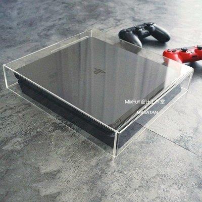 PS4 slim PRO 主機 防塵 收納罩 保護罩 透明 壓克力 實用 美觀 清新可見