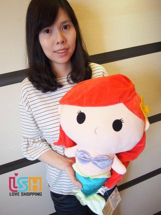 【愛購樂】 迪士尼 美人魚 46CM 正版授權 玩偶 娃娃 抱枕