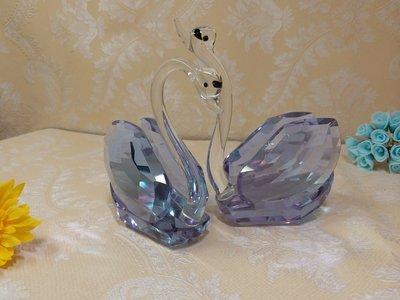水晶優雅情侶水晶天鵝結婚禮物可愛家居裝飾甜蜜天鵝