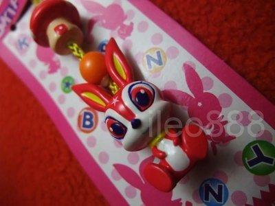 Japan SKIP BUNNY BERRY red STRAP rabbit 日本 賓尼 草莓 兔仔 根付 繩 吊飾 絕版 06 包平郵