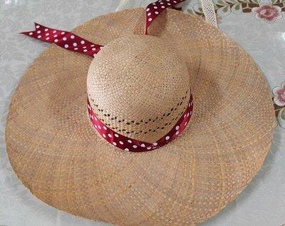*榮斌商行*(網路最低價)平價遮陽帽 加寬版 純手工編織