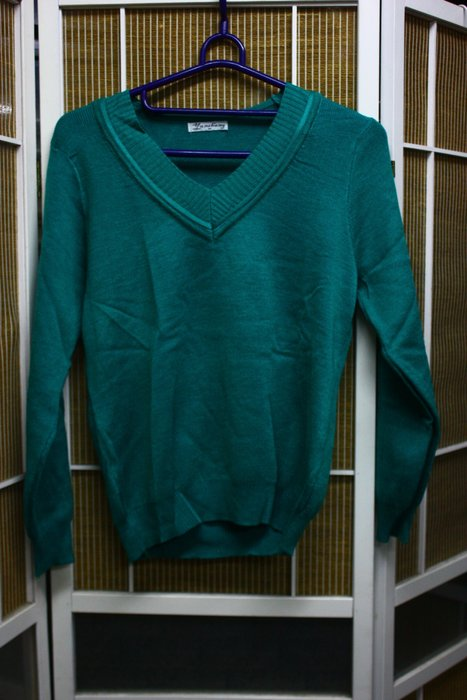 【R的雜貨舖】V領針織衫 針織毛衣(綠)
