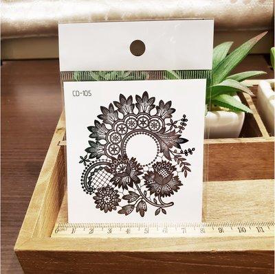【萌古屋】】花朵圖騰 - 手背防水紋身貼紙刺青貼紙CD-105 K12