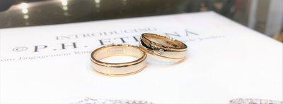 全新18K黃金及白金5份真鑽石結婚對戒 | HK13號及17.5號
