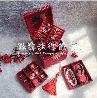 首飾收納盒  小號首飾盒手提公主飾品盒歐式首飾收納盒韓國生日禮物 時尚芭莎