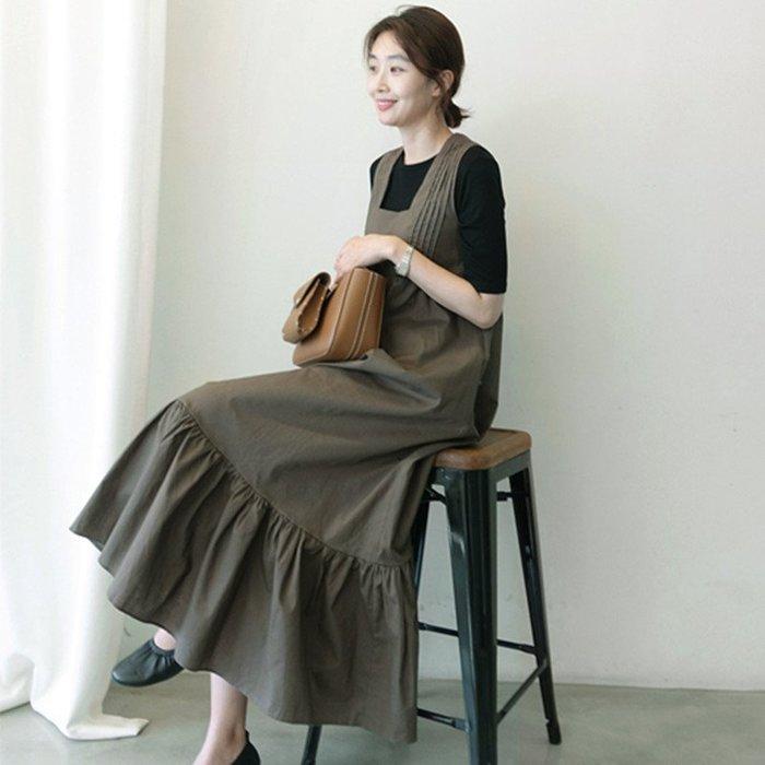 背心裙吊帶裙 美翻天高腰無袖長洋裝連身裙 艾爾莎【TAK8262】