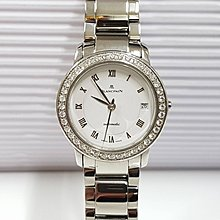 BLANCPAIN寶泊白鋼女錶、錶徑2.8mm.自動機心、白羅馬字面板、原廠真鑽外圈 大眾當舖 商品編號385