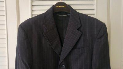 歐碼 【Gianfranco Ferre】鐵灰條紋單排三釦西裝上衣