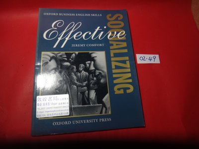 【愛悅二手書坊 02-49】Effective Socializing︰Student's Book