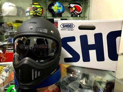 [阿群部品]SHOEI EX-ZERO 復古帽 山車帽 越野 小帽體 輕量 內襯可拆 內鏡片 素色 另有 彩繪 配色