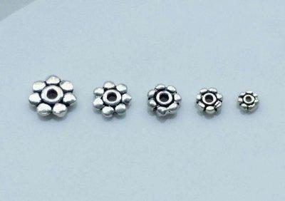 嗨,寶貝銀飾珠寶* 925純銀飾 DIY串珠配件☆3.5mm花瓣形 扁隔片隔珠 串珠配件5