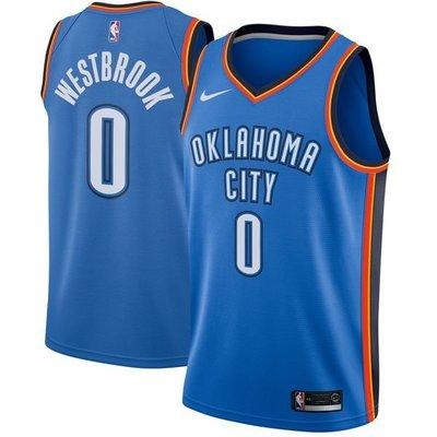 Russell Westbrook Nike Blue Swingman Jersey