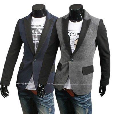 yes99buy加盟-2014男式最新時尚個性撞色休閒一粒扣小西裝 男式簡約夾克 外套