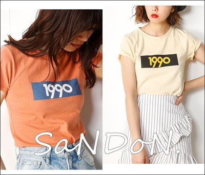 SaNDoN x SLY 夏季新入荷 官網主打款復古年代1980 80年代撞色對比短TEE THIRT 170606