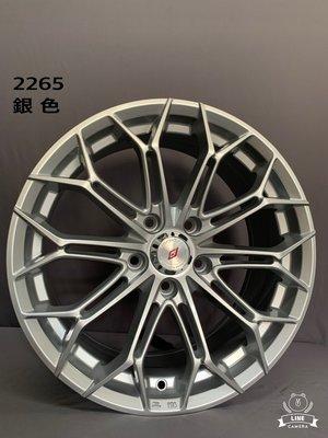 CR輪業 全新 北德文 2265 17吋鋁圈 亮銀 5X100 5X108 5X114