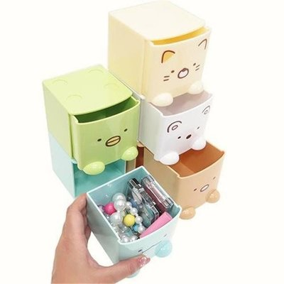 【 】【wendy kids】  角落生物 SUMIKKO GURASHI 積木式迷你收納盒(貓咪 河童 北極熊 恐龍)