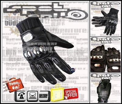 Spot ON - PROBIKER MCS06 真皮手套 金屬合金硬式! DAINESE 燒鈦 哈雷 APEX 達可達