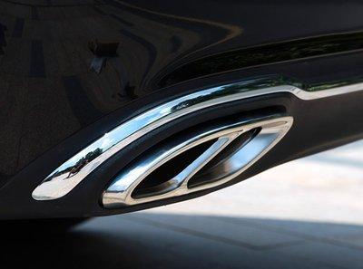 *有車以後*賓士 BENZ W205 C180 C200 C250 C300 排氣管 排氣管飾框 尾飾管 四出 尾管裝飾 台北市