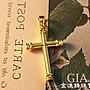 十字架 黃金墬飾  金飾墜子  純金墜飾 黃金...
