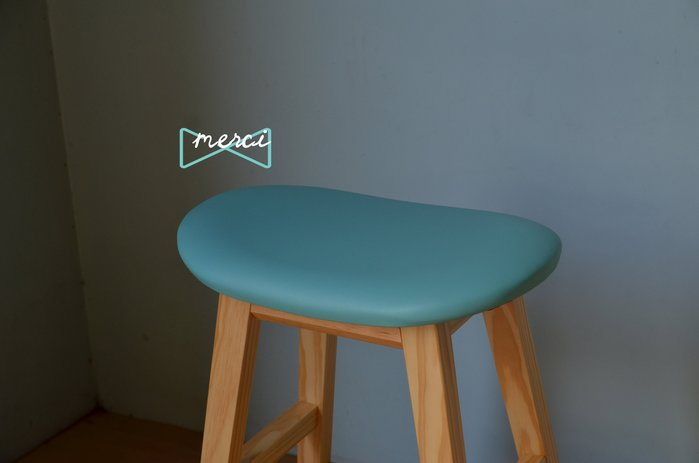 美希工坊 獨家商品 warmmain 逗豆吧台椅 bean stool /最舒適坐感/ 成雙免運 原木椅架/皮革款