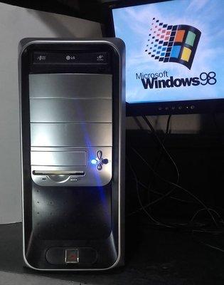 【窮人電腦】跑Win98系統!自組IBM工業主機出清!雙北桃園地區可親送!外縣可寄!