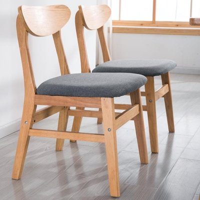 實木餐椅北歐椅子單人成人現代簡約美式餐桌家用餐廳靠背休閒凳子  IGO
